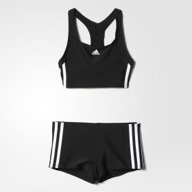 adidas essence core 3 stripes swim bikini youth