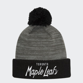 Maple Leafs Cuffed Pom Beanie