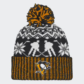 Bonnet Penguins Ugly Sweater Cuffed Pom