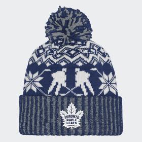 Bonnet Maple Leafs Ugly Sweater Cuffed Pom