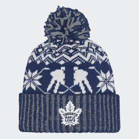 Maple Leafs Ugly Sweater Cuffed Pom Beanie