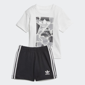 Conjunto Calções e T-shirt Camuflado Trefoil