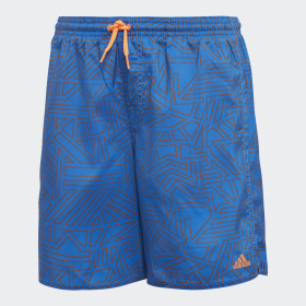 Graphic badeshorts