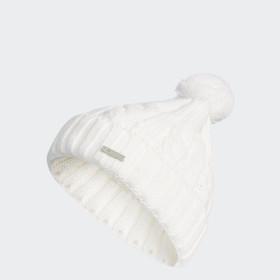 Solid Pompom Beanie