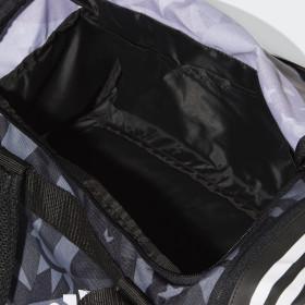 3-Stripes Convertible Graphic Duffelbag, liten