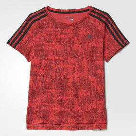 Tričko Essentials 3-Stripes Allover Print