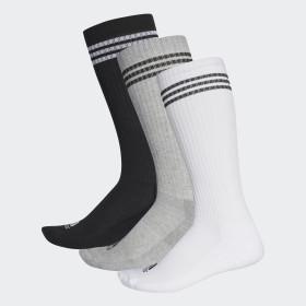 3 pares de calcetines largos 3 bandas