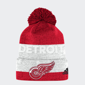 Bonnet Red Wings Team Cuffed Pom