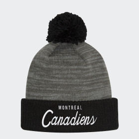 Bonnet Canadiens Cuffed Pom