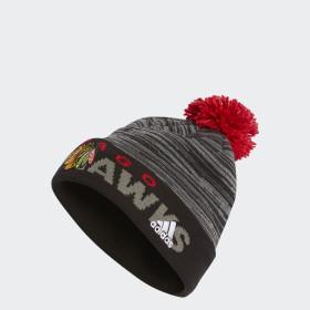 Bonnet Blackhawks Pom
