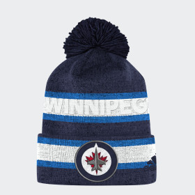 Jets Team Cuffed Pom Beanie