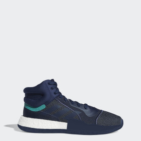 Basketball bleu CLIMALITE + BOOST + ORTHOLITE | adidas