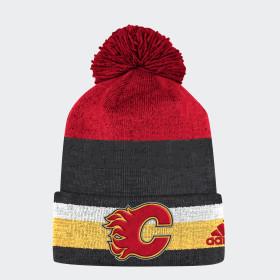 Flames Team Cuffed Pom Beanie