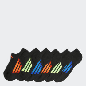 Vertical Stripe No Show Socks 6 Pairs
