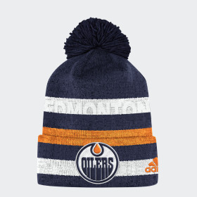 Oilers Team Cuffed Pom Beanie