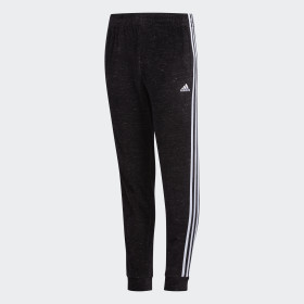 YOUTH BLK VELOUR JOGGER