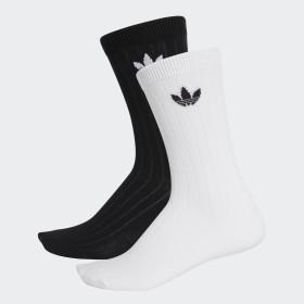 Mid Ribbed Crew Socken, 2 Paar