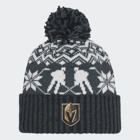Bonnet Golden Knights Ugly Sweater Cuffed Pom