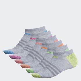 Superlite Mini-Stripe No-Show Socks 6 Pairs