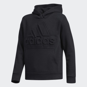 Embossed Badge of Sport Pullover Hoodie