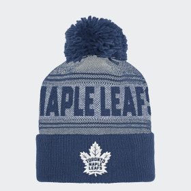 Maple Leafs Cuffed Pom Knit Beanie