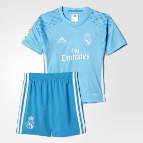 Miniconjunto portero primera equipación Real Madrid