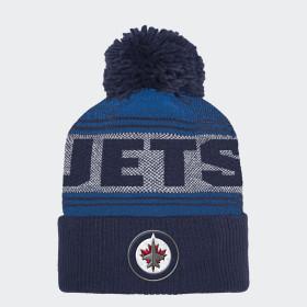 Jets Cuffed Pom Knit Beanie
