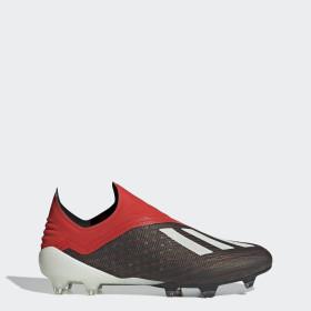 chaussures foot adidas 18 enfant jaune sans lacets junior