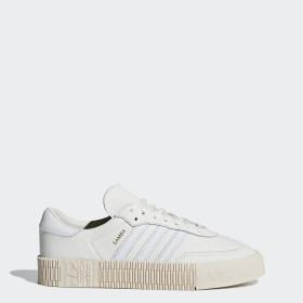 Donna: scarpe ADIDAS SNEAKERS SAMBAROSE W NERO-BIANCO-MARRONE B28156 Abbigliamento e accessori