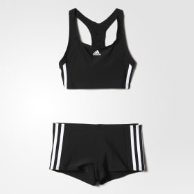 adidas essence core 3 stripes swim bikini youth