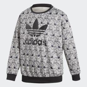 Bluza z zaokrąglonym dekoltem Zebra