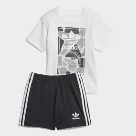 Camo Trefoil Shorts and Tee Set