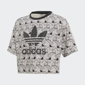Zebra Crop T-skjorte