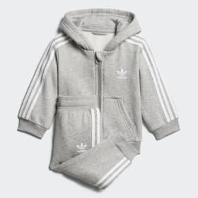 Trefoil Full Zip Hoodie Track Suit
