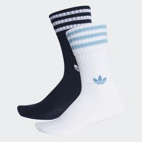 Solid Crew Socks 2 Pairs