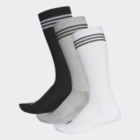 3-Stripes Knee Socks 3 Pairs