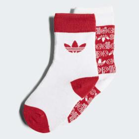 Trefoil Thin Crew Socks 2 Pairs
