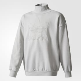 Trefoil French Terry Crew Sweatshirt
