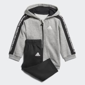 Linear Hooded Fleece Joggingset