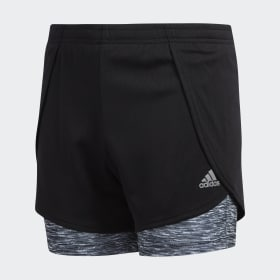 2-in-1 Space Dye Shorts