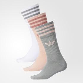 Pastel Camo Crew Socks 3 Pairs