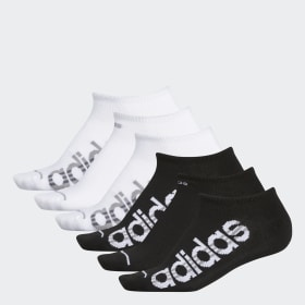 Core 3-Stripes No-Show Socks 6 Pairs
