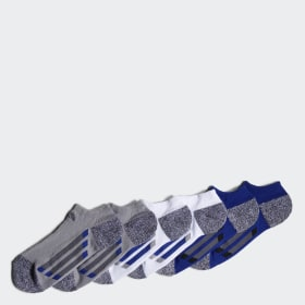 Vertical Stripe No-Show Socks 6 Pairs