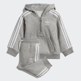 Fleece hoodie sæt