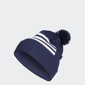 3-Stripes Pompom Beanie