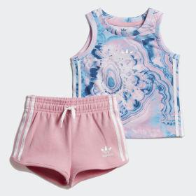 Conjunto camiseta y pantalón corto Marble
