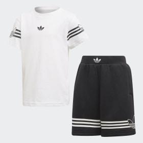 Outline Tee Shorts Sett