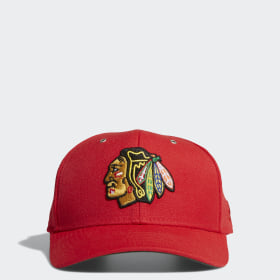 Blackhawks Adjustable Leather Strap Hat