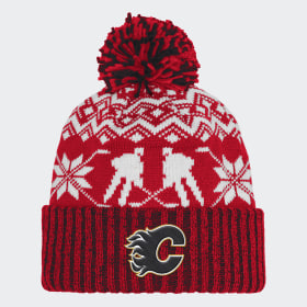 Bonnet Flames Ugly Sweater Cuffed Pom