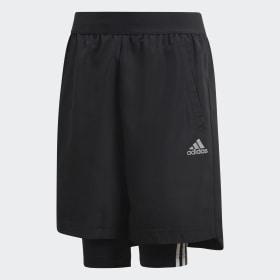 Shorts de Fútbol Dos-en-Uno